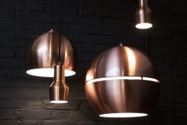 Copper pendant lamps