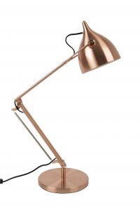 Reader desk lamp copper
