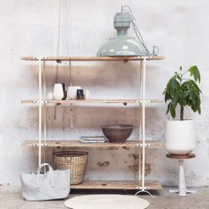 Boekenkast open wit industrieel giga meubel