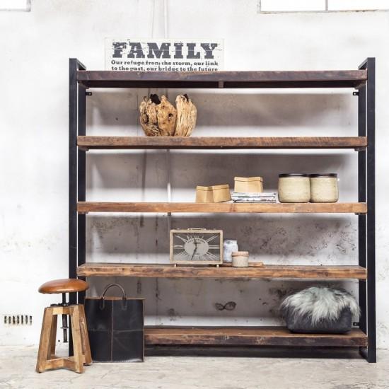 boekenkast open industrieel big Giga meubel