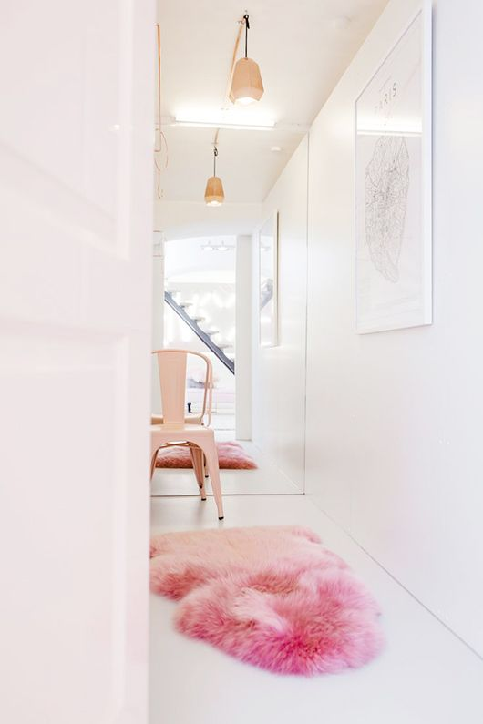 pink girly interior