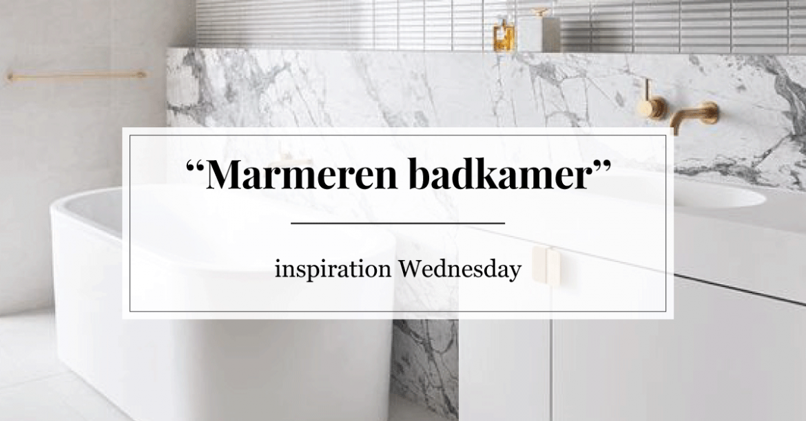 Inspiration Wednesday: marmeren badkamer | Furnlovers.nl
