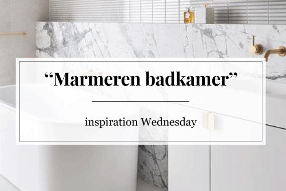Inspiration Wednesday: marmeren badkamer | Furnlovers.nl