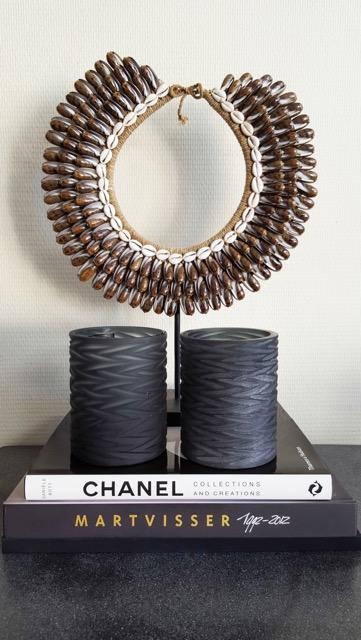 Curved glas en indische ketting