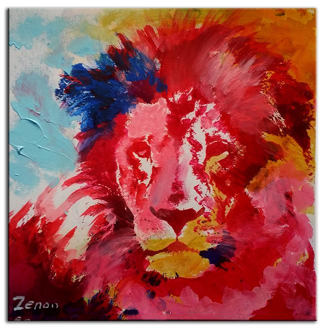 schilderij-leeuw
