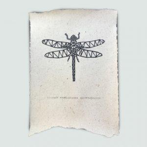 Olifantenpoeppapier poster, libelle, woonathome kopie W@