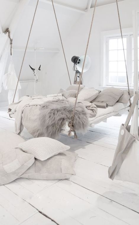 een hangend bed